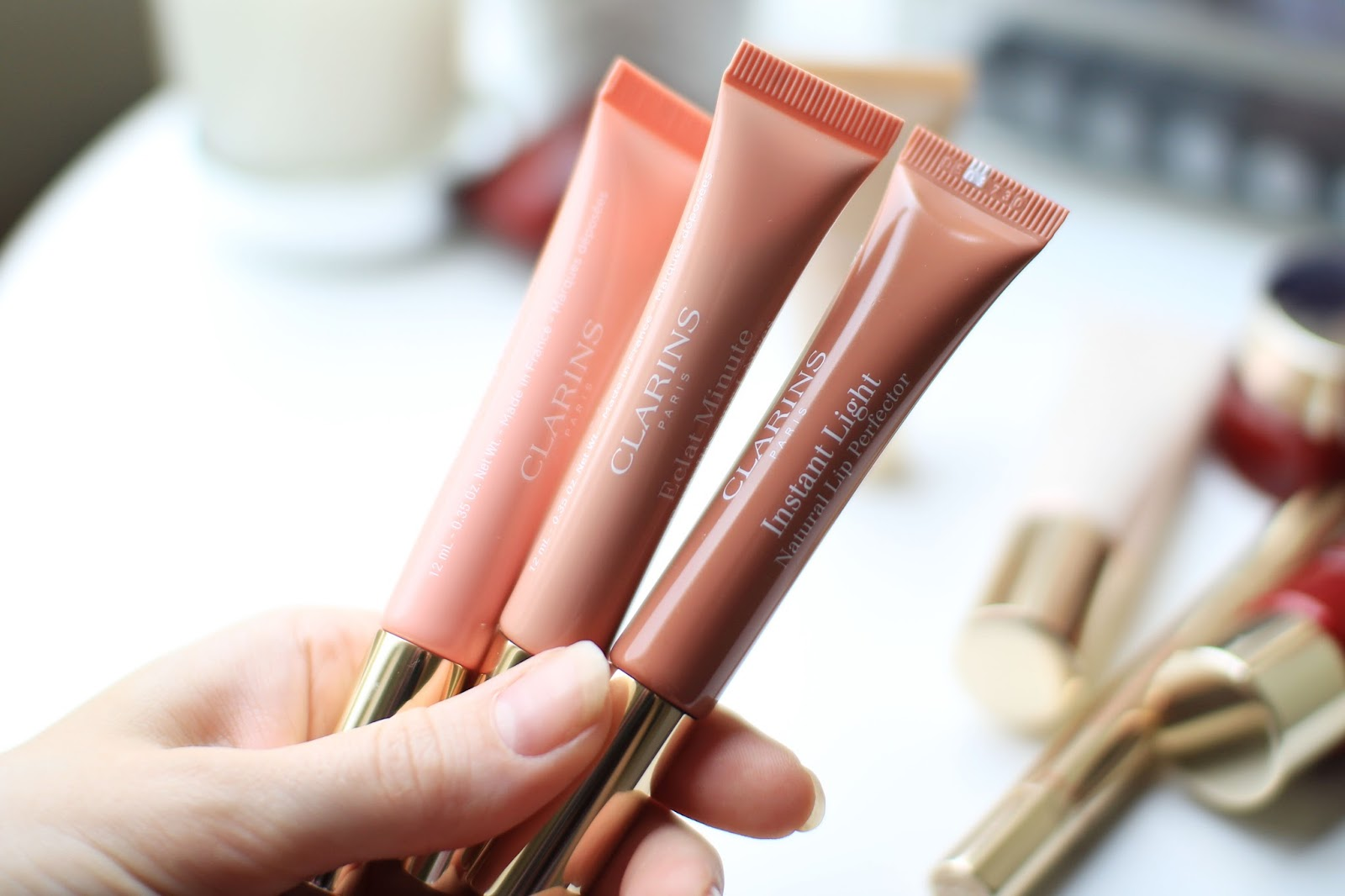 Instant light lip perfectors from Clarins