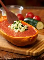 Gaspacho Frugívoro com Croutons de Pepino (vegana)
