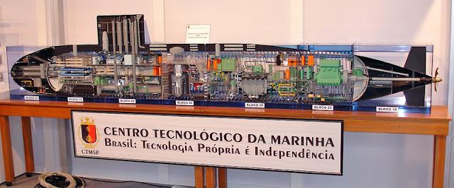 Maquette of the Brazilian SSN
