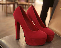 Must Have Item! BEST SELLER (Basic Suede Pump with Thick Heel)