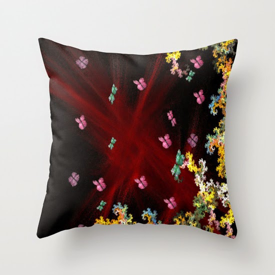Butterfly Pit Theresa Neal throw pillow