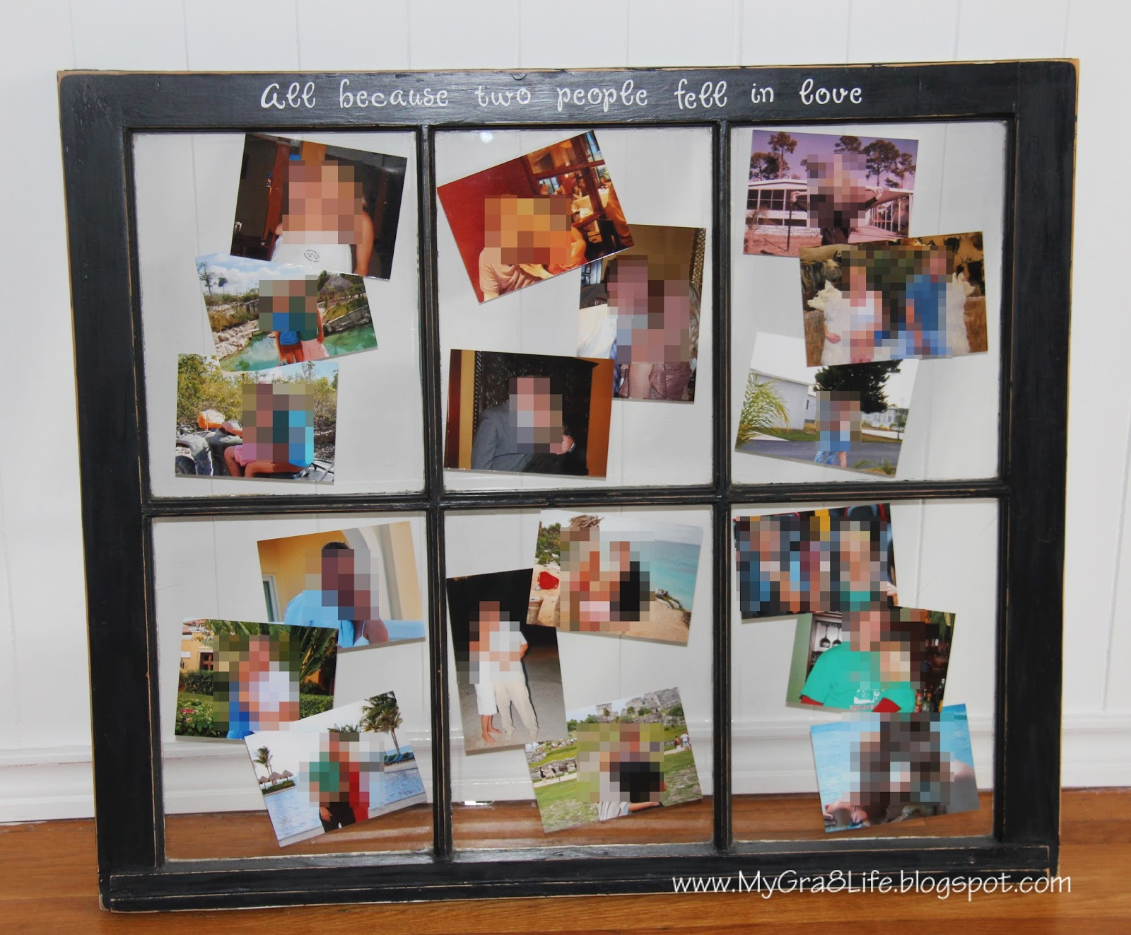 My Gra 8 Life: How to Make an Old Window into a Picture Frame