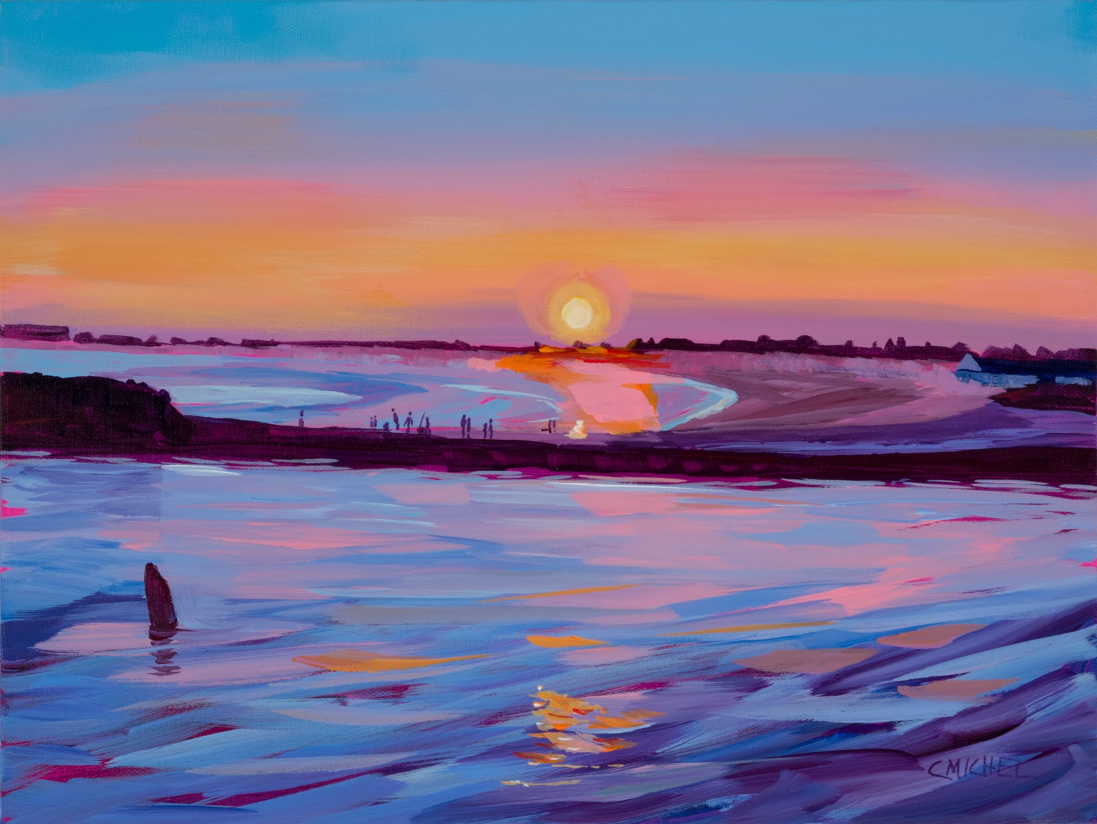Displaying 18> Images For - Beach Sunset Acrylic Painting...Acrylic Paintings Sunset