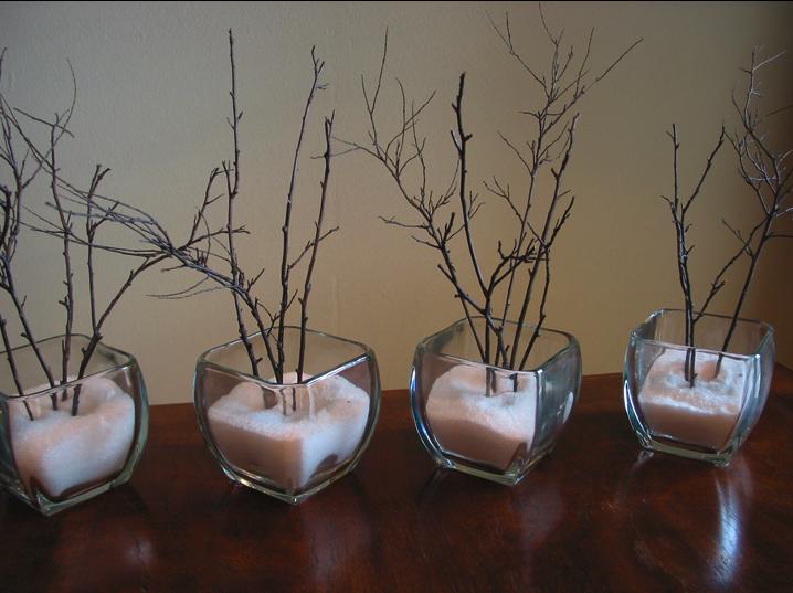 Un centro de mesa invernal - Centros decorativos para mesas ...