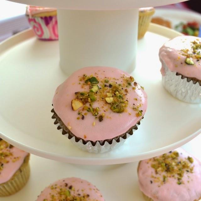 Pistchio-Rosewater Cupcakes
