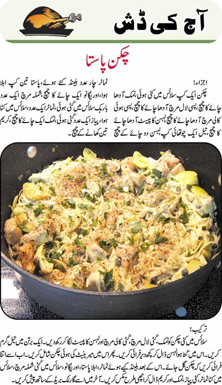recipes: Chicken Pasta Recipe in Urdu