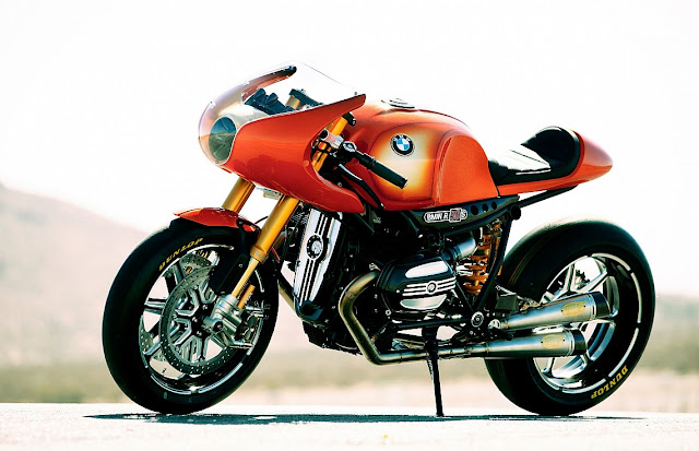 BMW CONCEPT NINETY MOTORCYCLE (BMW Concept Ninety Price TBA) Part celebration of BMW 90-year motorcycle legacy, Homage to the classic BMW R 90 S, the BMW Concept 90 Motorcycle