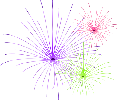fireworks with transparent background.