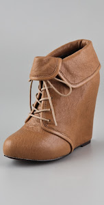 elizabeth and james wedge booties