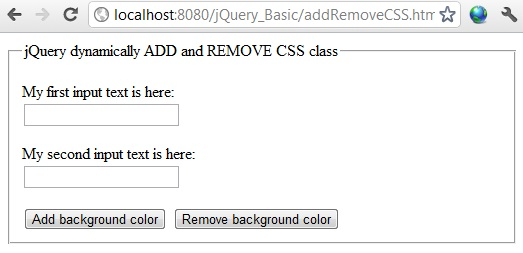 jQuery add or remove class dynamically on button click