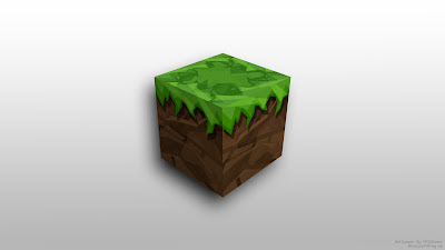 Cartoon style theme dirt block with grass