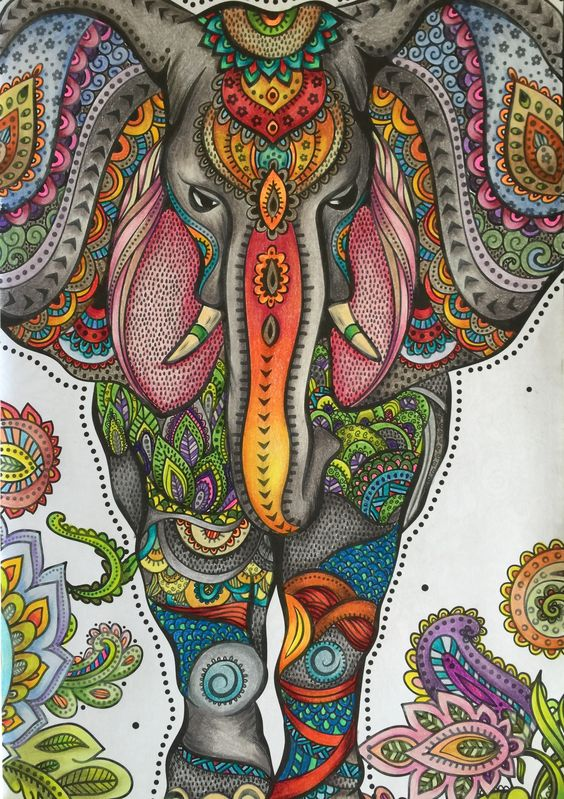 When I Used My Derwent Blender Pencil This Was The Ombre Effect Got On Elephant From One Of Three Coloring Books