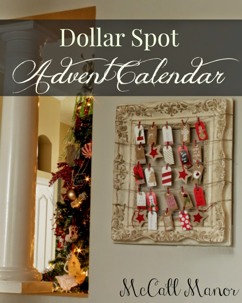 dollar store craft advent-calendar