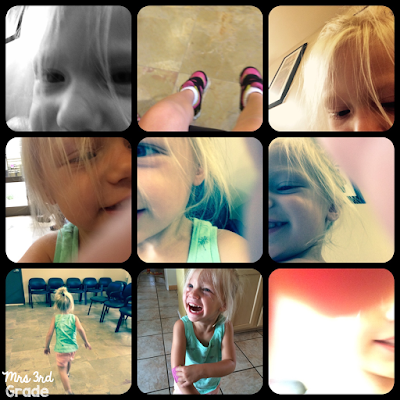 Many faces of a 2 year old selfie!!