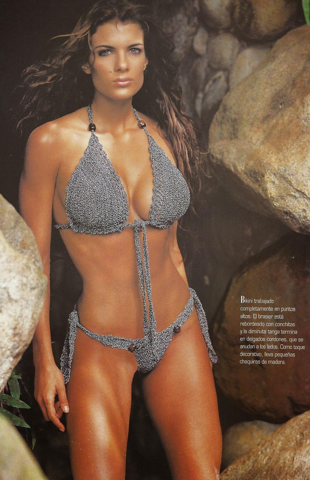Bikini Gris a Crochet