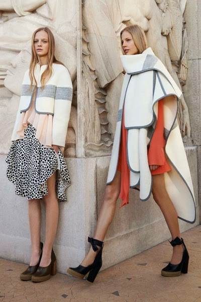 Chloé Pre-fall 2014 Alpaca-blend Blanket Cape