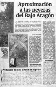 NEVERAS DEL BAJO ARAGÓN