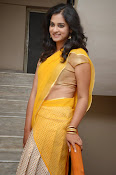 Nanditha raj latest photos in half saree-thumbnail-9