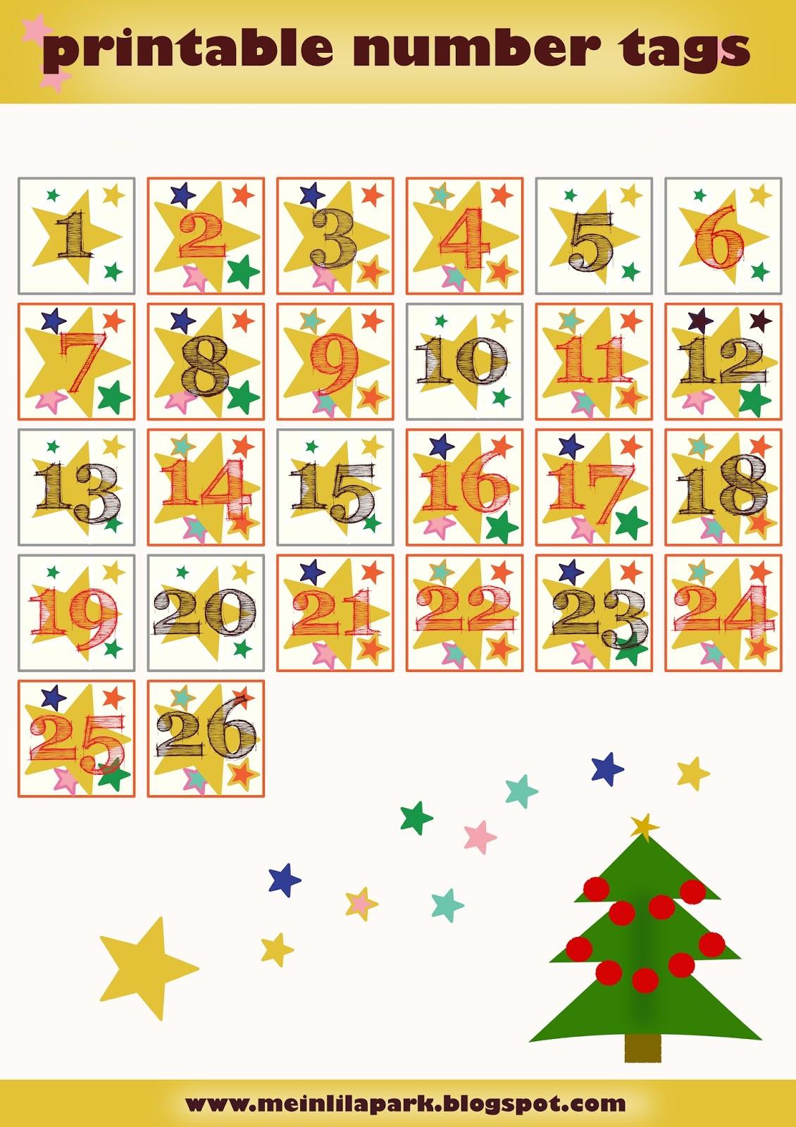 Diy Calendar Numbers : Free printable advent calendar numbers zahlen für