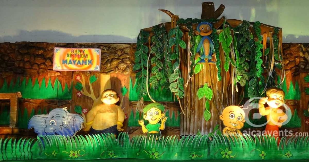 Aicaevents chota bheem theme party decorations for B day decoration