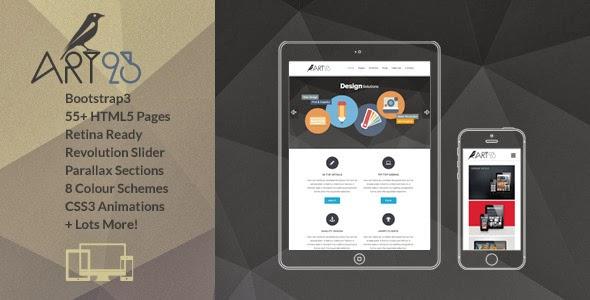 Responsive HTML Portfolio theme