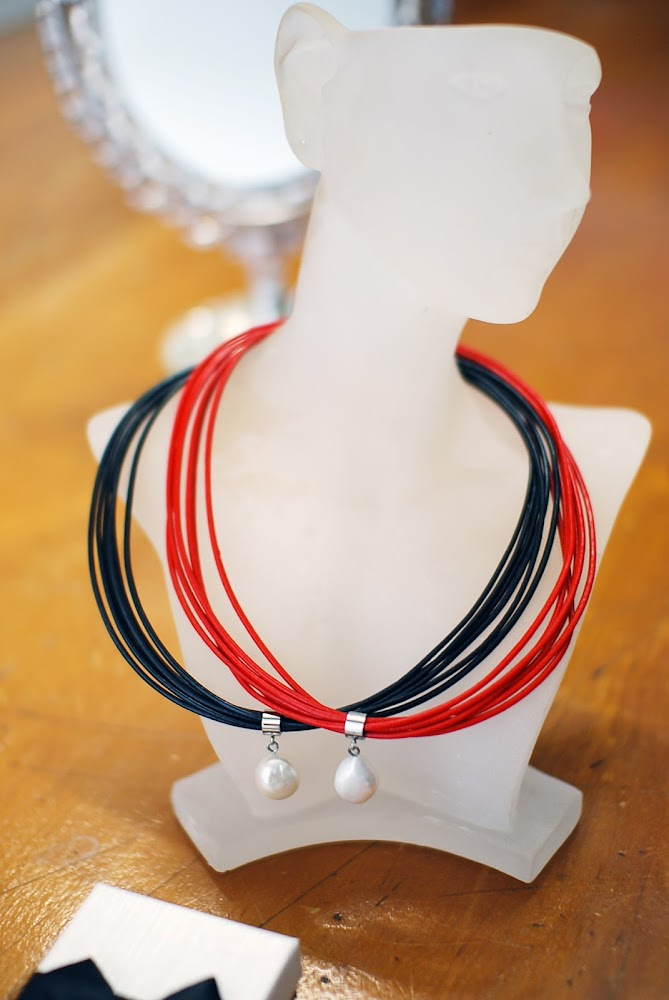 StyleRocks Leather Pearl Freshwater Necklace DIY