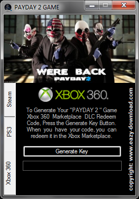 Download PAYDAY 2 Keygen For Xbox 360