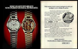 Seiko watch; 1974. década de 70. os anos 70; propaganda na década de 70; Brazil in the 70s, história anos 70; Oswaldo Hernandez;