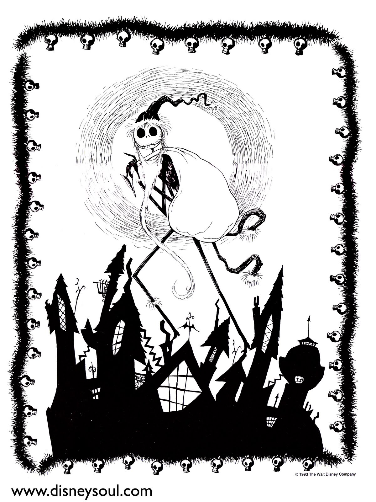 Lovely Nightmare Before Christmas Coloring Page Gallery - Entry ...