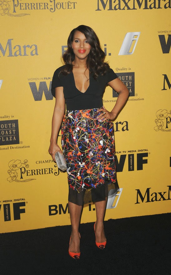 Red Carpet Celebrity Fashion  A La  Kerry Washington