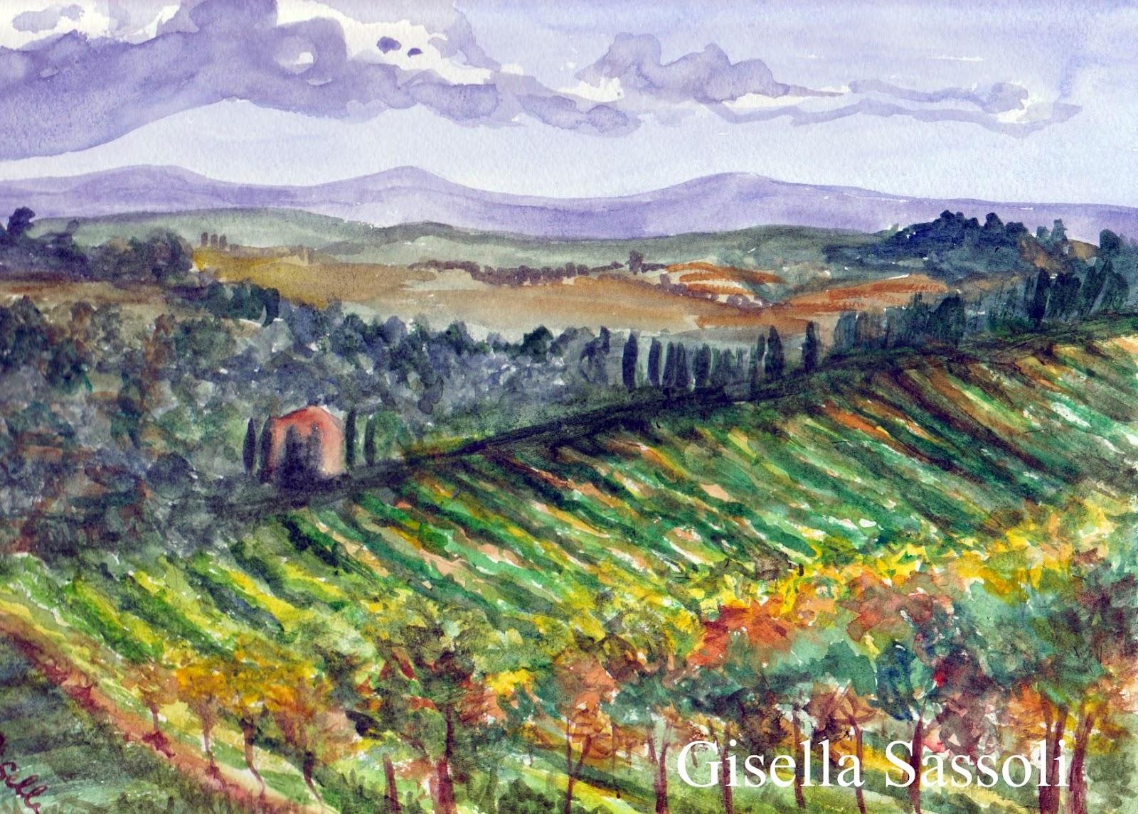 Gisella sassoli acquerelli novembre 2011 for Semplici paesaggi