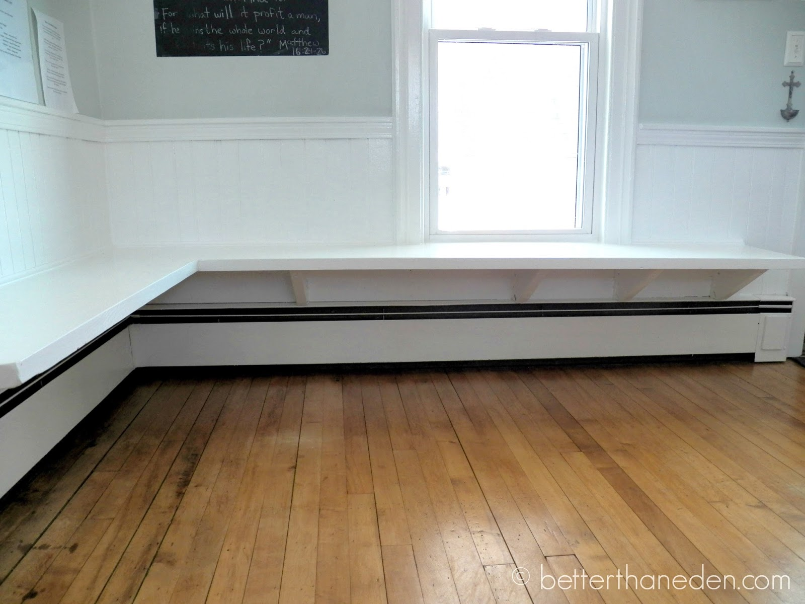 The floating built in kitchen bench mary haseltine better than eden - Building a kitchen bench ...