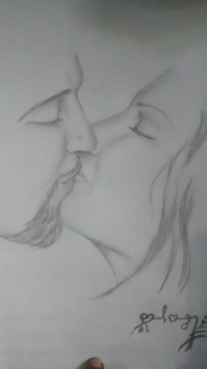 Pencil sketch true lover pencil sketch