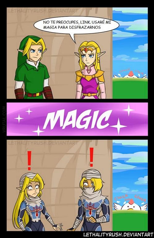 La magia del disfraz de Zelda