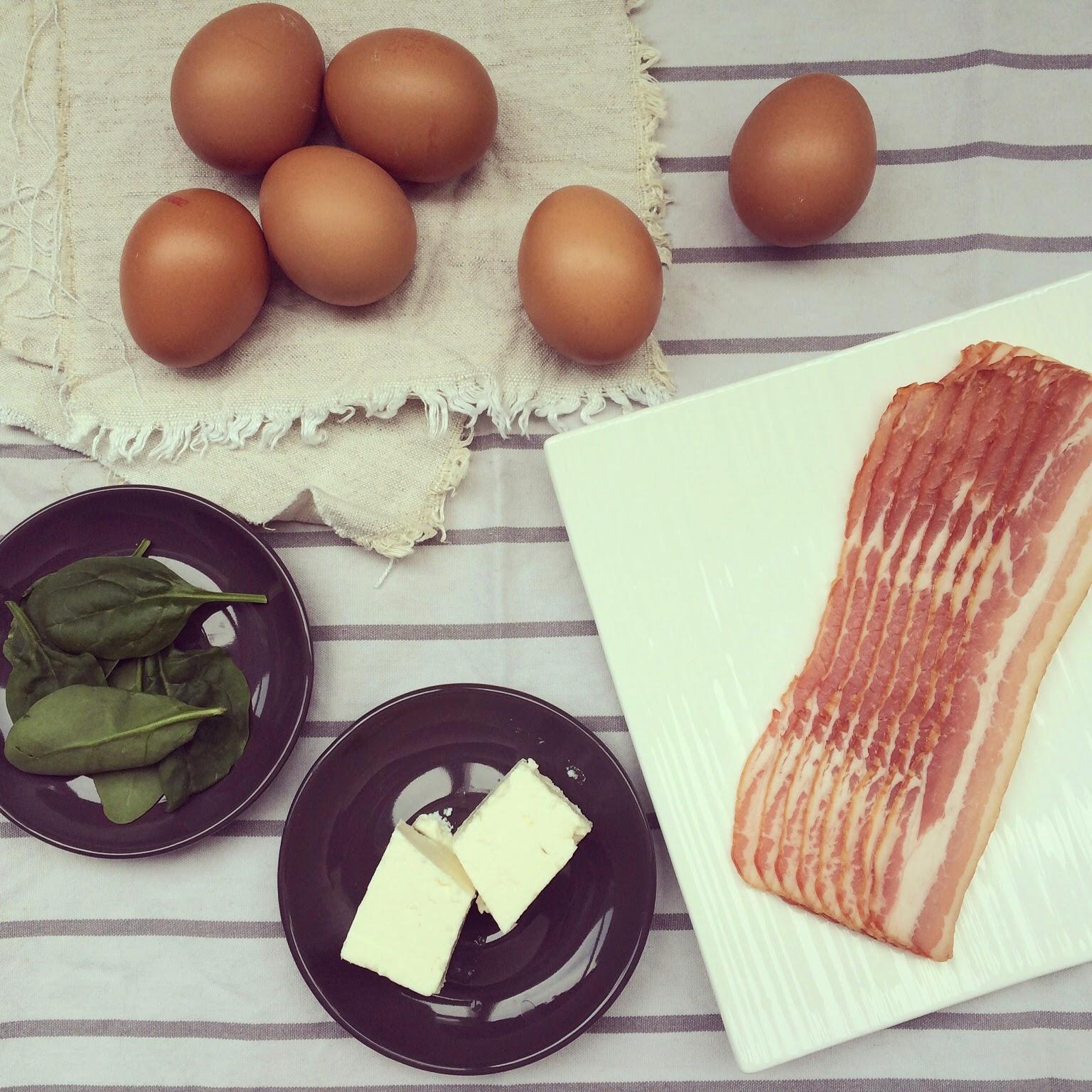 muffins oeufs bacon feta
