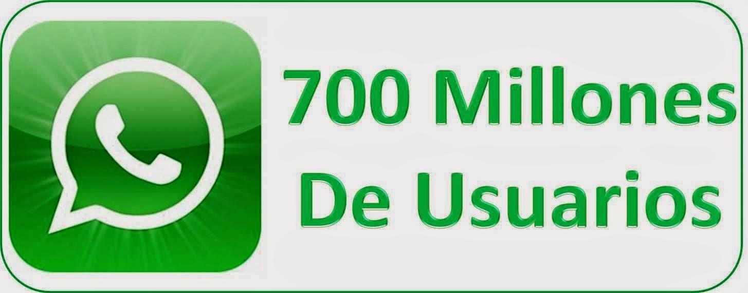 Whatsapp 700 millones Usuarios en el Mundo