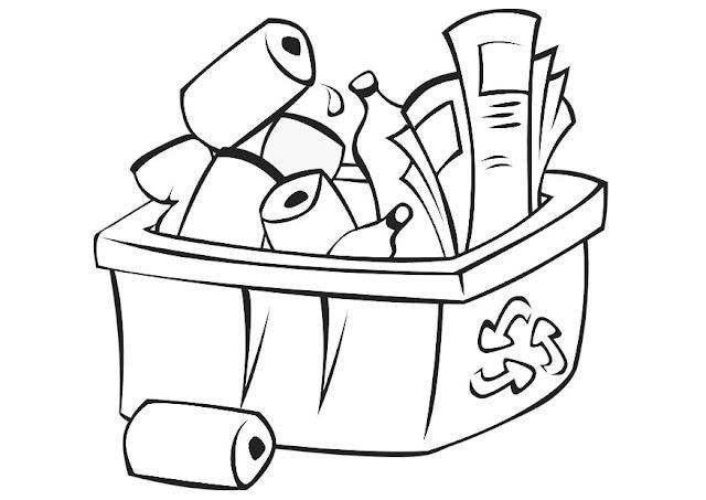 Reciclagem para colorir