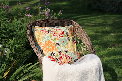 marsala floral pillow cover