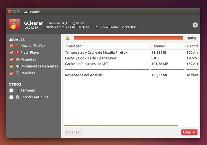 GCleaner no Ubuntu