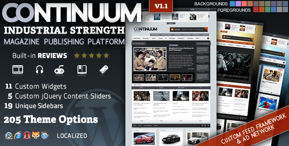 Continuum - Magazine Wordpress Theme Free Download by ThemeForest.