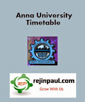 Anna University Nov/Dec 2013 Exam Timetable For PG