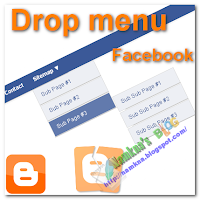 Menu sổ nhiều cấp giống  facebook cho blogger/blogspot