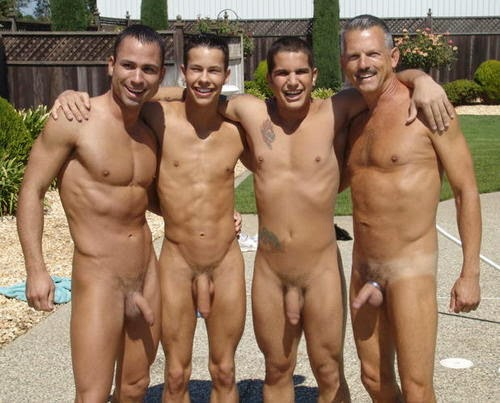real fathers and sons naked together