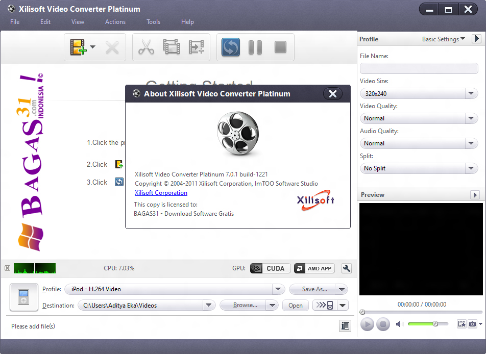 Xilisoft video converter platinum 6.0 7 portable download with crack