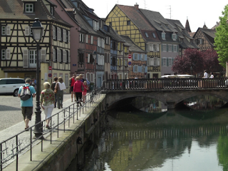 Colmar streets and canal (road trip France)