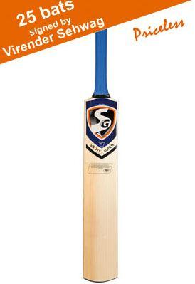 Free Virender Sehwag signed bat