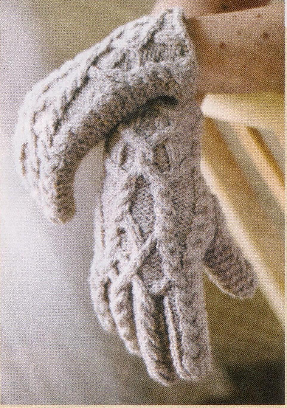 Вязание спицами перчаток схемы 2