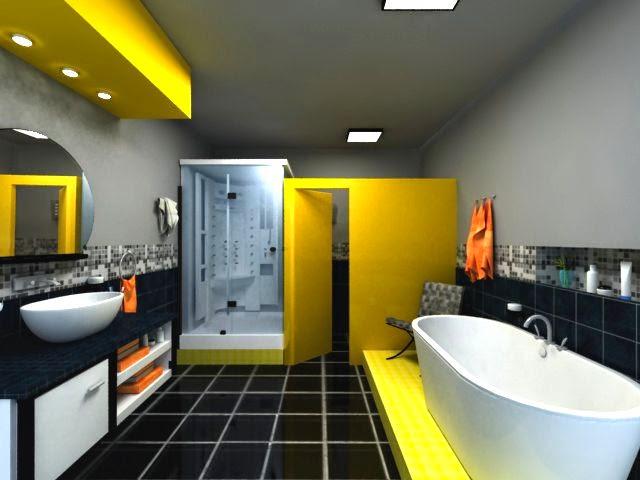 Diseñar Baños modernos y Coloridos - ArQuitexs