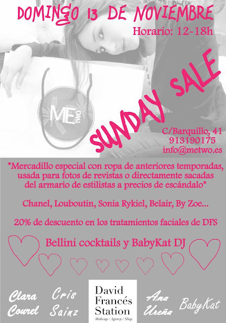 Sunday Sale con Bellini cocktails y DJ- Un planazo para el domingo