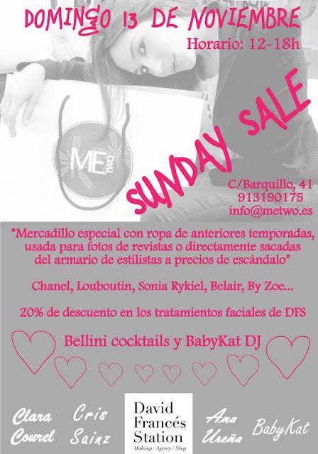 Sunday Sale con Bellini cocktails y DJ- Un planazo para el domingo